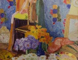 Pintura de Tarsila do Amaral: Margaridas de Mário de Andrade. (1922)